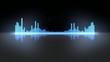 Thin Dark Modern VU Equalizer Waveform Meters