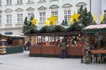 Christmas Market (christkindlmarket) with stalls in Augsburg