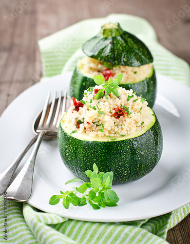 Zucchinis the stuffed Couscous