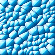 Blue abstract stained glass mosaic background