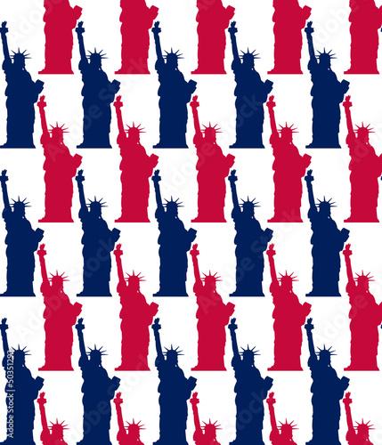 statue of liberty seamless pattern - 50351292