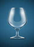 glass goblet for brandy drinks vector illustration EPS10.