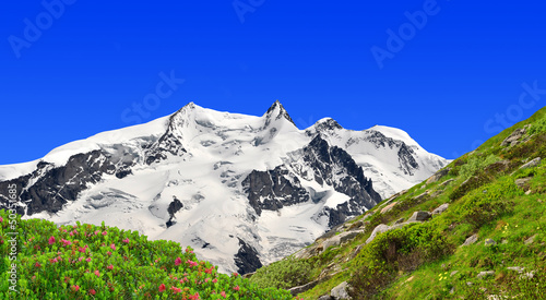 Beautiful mountain Monte Rosa - Swiss Alps