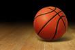 Basketball On Wood Court