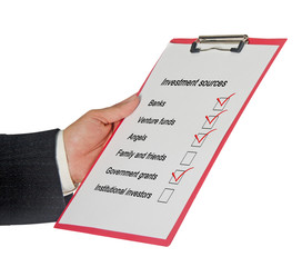 Investment sources checklist