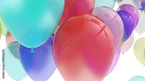 Balloons White Background