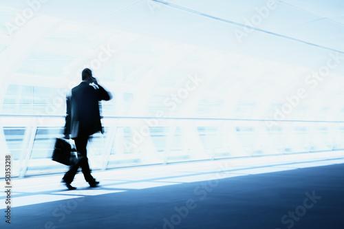 Leinwanddruck Bild Mobiler Kundenservice