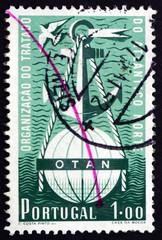 Postage stamp Portugal 1952 Symbolical of NATO