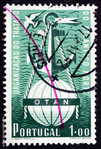 Postage stamp Portugal 1952 Symbolical of NATO