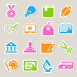 Education icons set. Illustration.