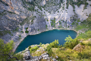Lago azul (Imotsky,Croacia)