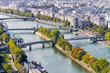 Panoramic View from the Tour Eiffel in Paris