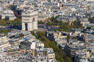 Arc de Triomphe seen from Tour Eiffel