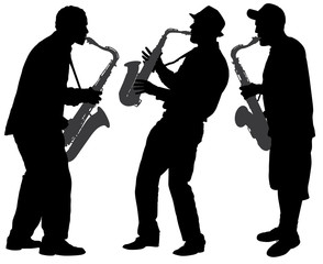 Saxophone Player Silhouette