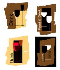 loghi vari con riferimento alle bevande
