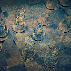 grunge chess game