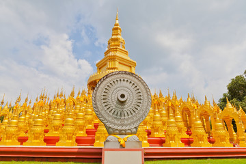 Top five hundred pagodas in Wat pasawangboon Saraburi, Thailand