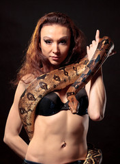 Exotic Woman with a Boa