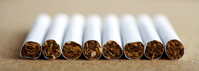 Line of cigarettes