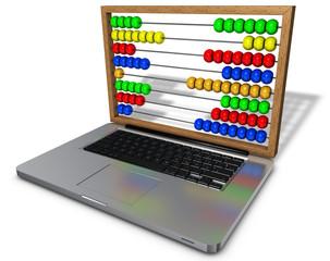 Laptop mit abacus