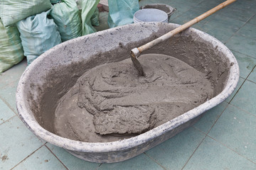 Cement mix bowl