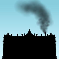 peterdom mit schwarzem rauch I