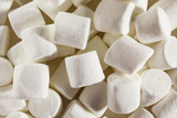Delicious White Fluffy Round Marshmallows