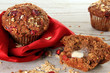 Cranberry bran muffin. Also available in vertical.