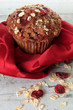Cranberry bran muffin, also available in horizontal.