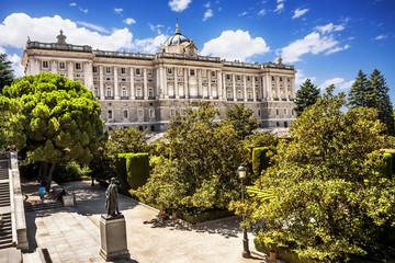 Madrid Royal Palace (Palacio de Oriente), Spain.