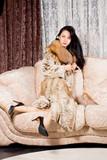Elegant wealthy woman poster