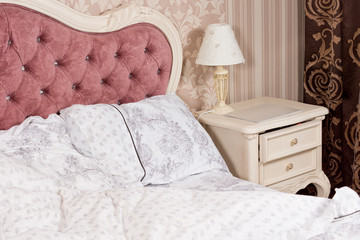 Luxury bedroom interior detail