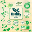 Logo. Label. Healthy life. Green Planet. Bio agriculture.