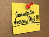 Immunization Awareness Week poster