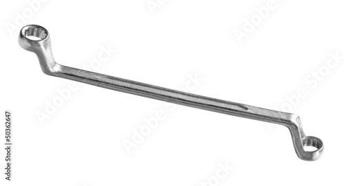 Ring wrench isolated on white background