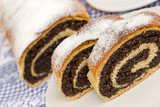 Strudel with poppy seeds