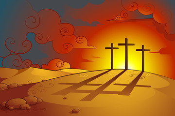 vector illustration of Jesus Christs crucifixion