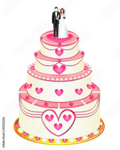 Gamesageddon Pinkfarbene Hochzeitstorte Und Besteck Lizenzfreie