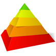 canvas print picture - Vector pyramid five levels, pyramide vectorielle