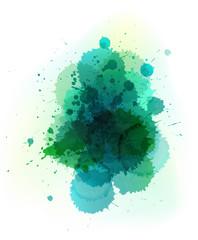 vector watercolor splatter