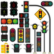 Traffic light vector - 50363826