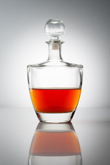 bottle of brandy (cognac)