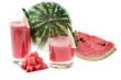 Fresh Watermelon Juice on white