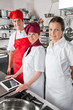 Happy Chefs With Digital Tablet