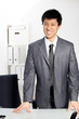 Asian business man standing