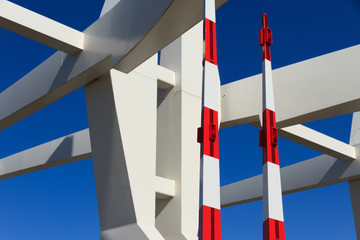 Abstract details of modern bridge