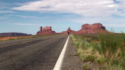 U.S. Route 163 in Monument Valley, Arizona-Utah, USA