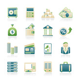 Bank and Finance Icons - Vector Icon Set