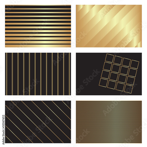 gold on black backgrounds
