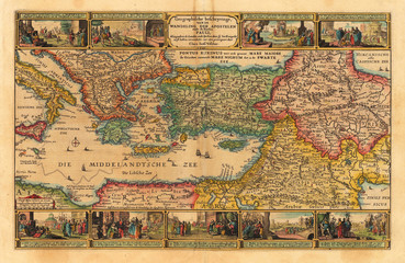Holy Land old map